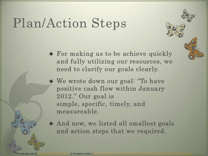 Plan/Action Steps<br />For making us to be achieve quickly and fully utilizing our resources, we need to clarify our goals...