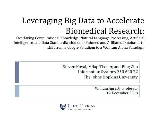 Leveraging Big Data to Accelerate Biomedical Research: Overlaying Computational Knowledge, Natural Language Processing, Ar...