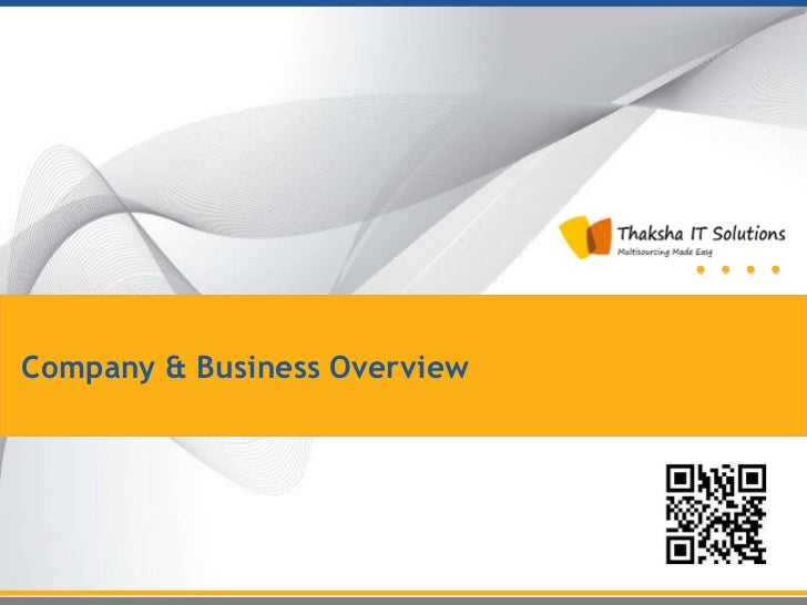 Company & Business Overview