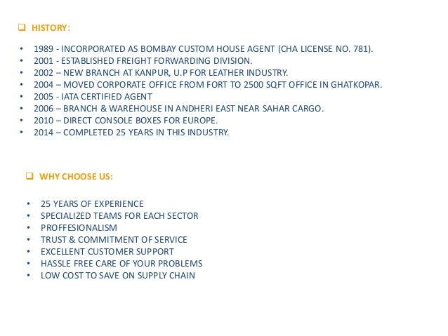Thakur Shipping Agency - Company Profile