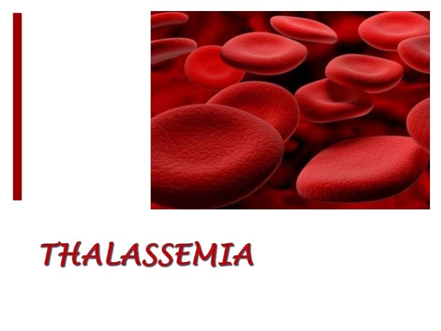 INTRODUCTION Thalassemia is an inherited autosomal recessive  blood disorder. which results in excessive destruction of ...