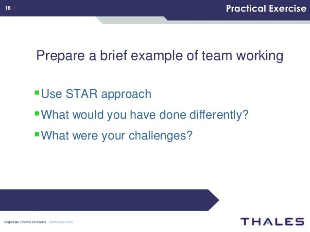 star approach to interview