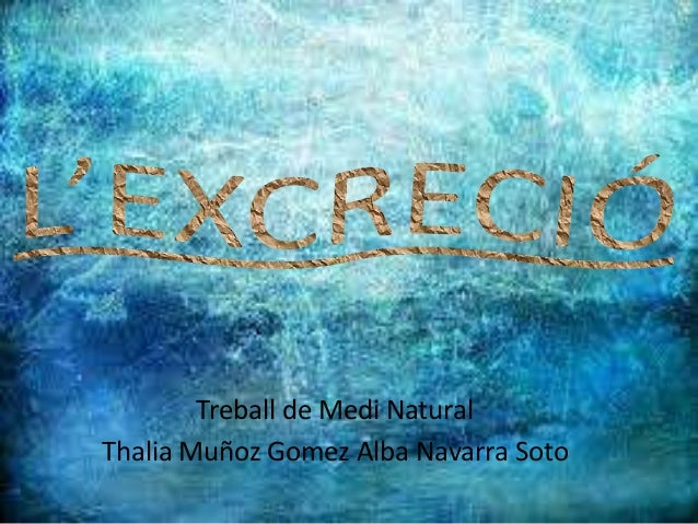 Treball de Medi Natural Thalia Muñoz Gomez Alba Navarra Soto