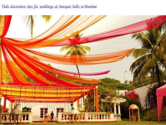 Thali decoration tips for weddings at banquet halls in Mumbai