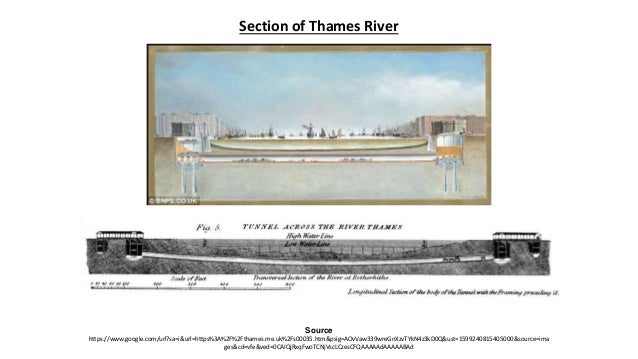 TUNNEL UNDER RIVER THAMES