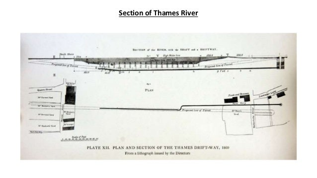 Section of Tunnels under City & Thames River