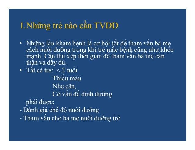 THAM VẤN DINH DƯỠNG CHO BÀ MẸ Slide 3