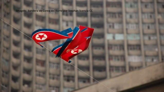 Imagen: bandera de Corea del Norte por Stephan licencia CC
