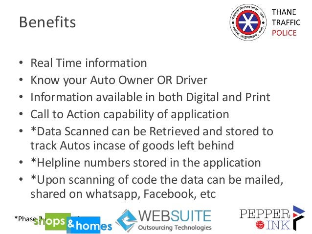 Benefits • Real Time information • Know your Auto Owner OR Driver • Information available in both Digital and Print • Call...