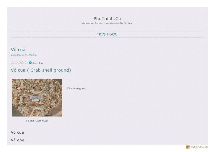 PhuThinh.Co                                               Nhà cung cấp bột tôm, vỏ đầu tôm hàng đầu Việt Nam              ...