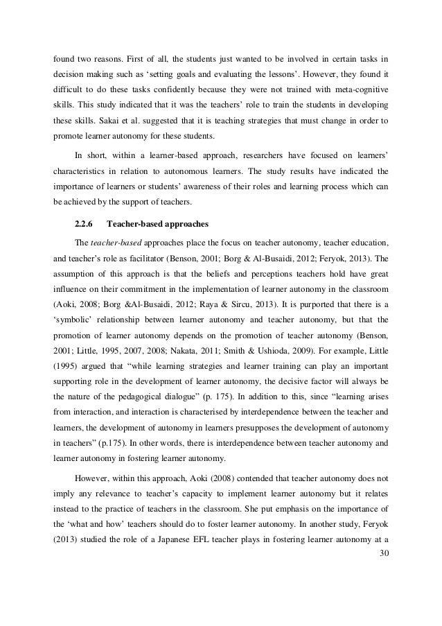 learner autonomy english language teachers beliefs Learner autonomy in language learning: student teachers' beliefs australian  journal of teacher education, 35, 90–103 basturkmen, h (2012) review of.