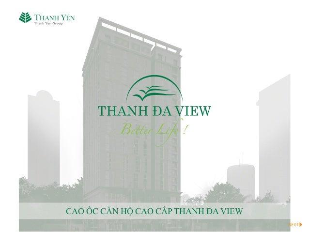 w ww.thanhdaview.com.vn CAO ỐC CĂN HỘ CAO CẤP THANH ĐA VIEW