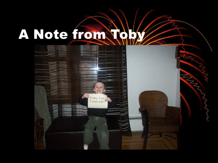 A Note from Toby