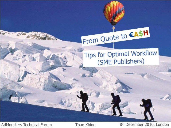 ote to €A$HFro m Qu Tips for Optimal Workflow      (SME Publishers)      by Than Khine