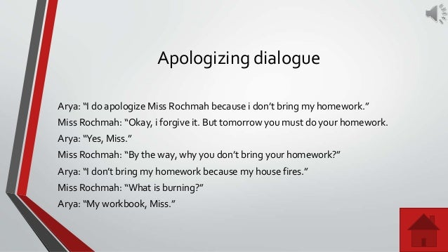 Apologizing | Sample conversations