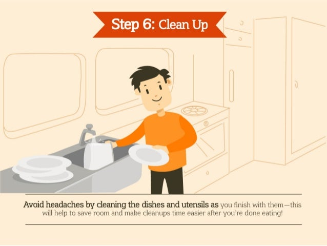 how to clean up after a church dinner