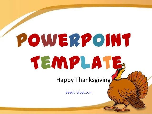 PowerPoint Template   Happy Thanksgiving      Beautifulppt.com