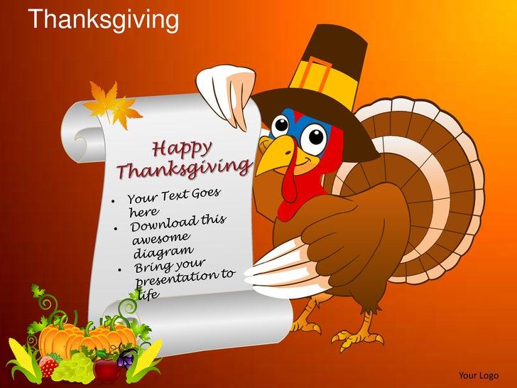 thanksgiving celebrations festivals turkey powerpoint templates
