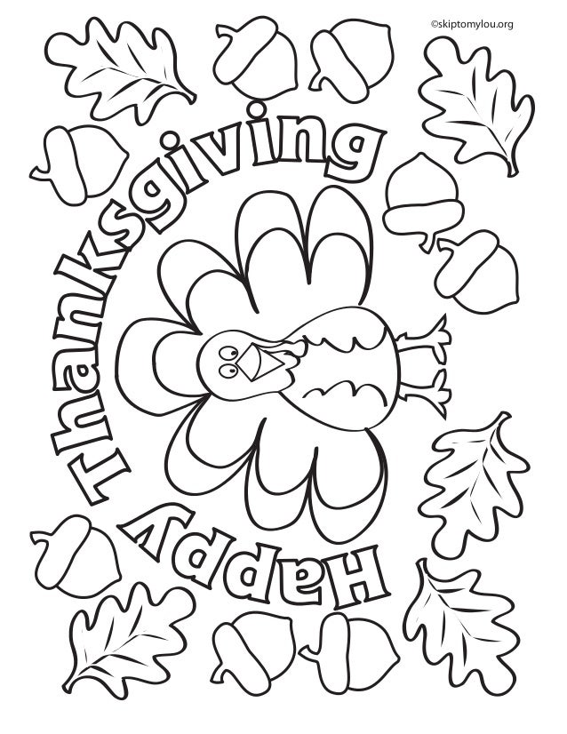 Thanksgiving coloringpage