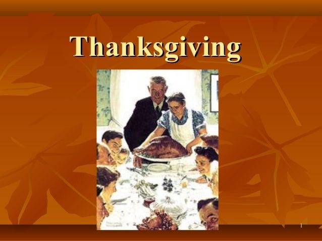 Thanksgiving               1