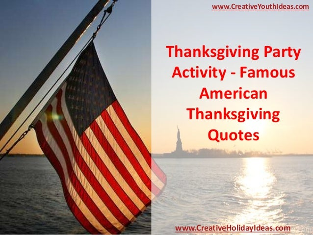 thanksgiving party activity famous american thanksgiving. Black Bedroom Furniture Sets. Home Design Ideas
