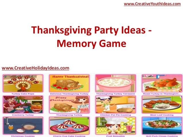 Thanksgiving party ideas memory game