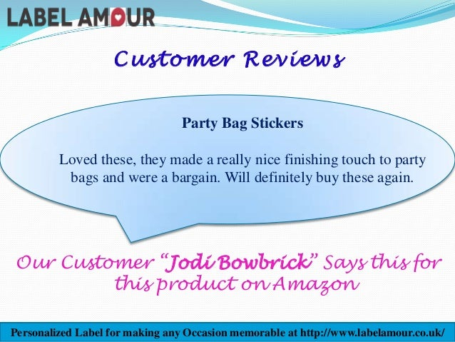 Personalised thank you birthday labels stickers