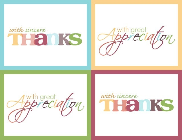 Genius image throughout printable thank you card