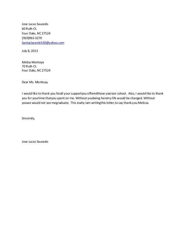 thank letter