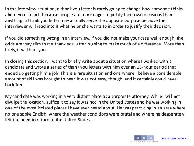 Thank you letters risks vs benefits bcg attorney search 10 in the interview situation a thank you letter expocarfo Images