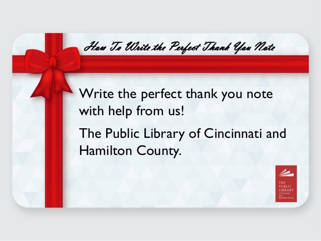 Easy Steps To Writing The Perfect Thank You Note