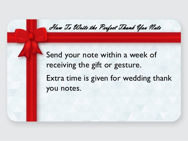 5 Easy Steps To Writing The Perfect Thank You Note