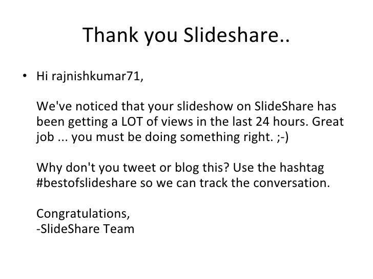 thank you slideshare