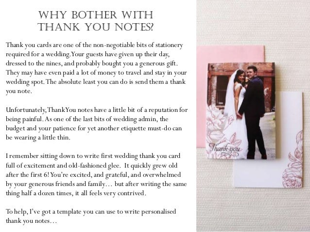 How To Word Your Wedding Thank You Notes