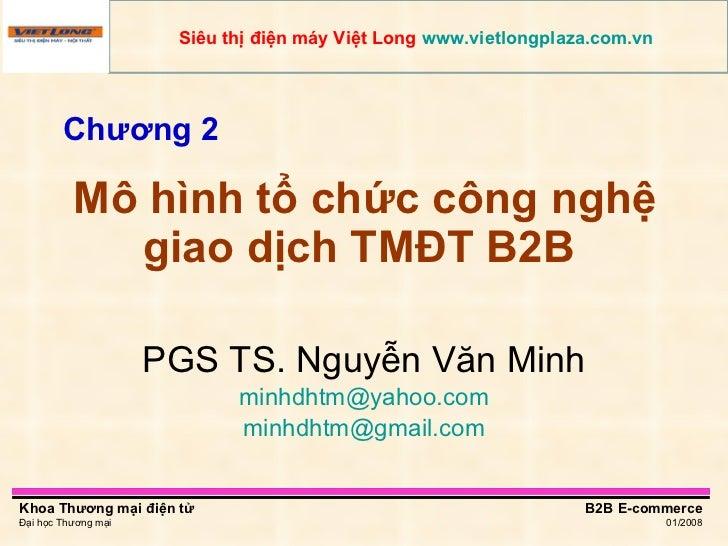 Mô hình tổ chức công nghệ giao dịch TMĐT B2B  PGS TS. Nguyễn Văn Minh [email_address] [email_address] Chương 2 Siêu thị đi...