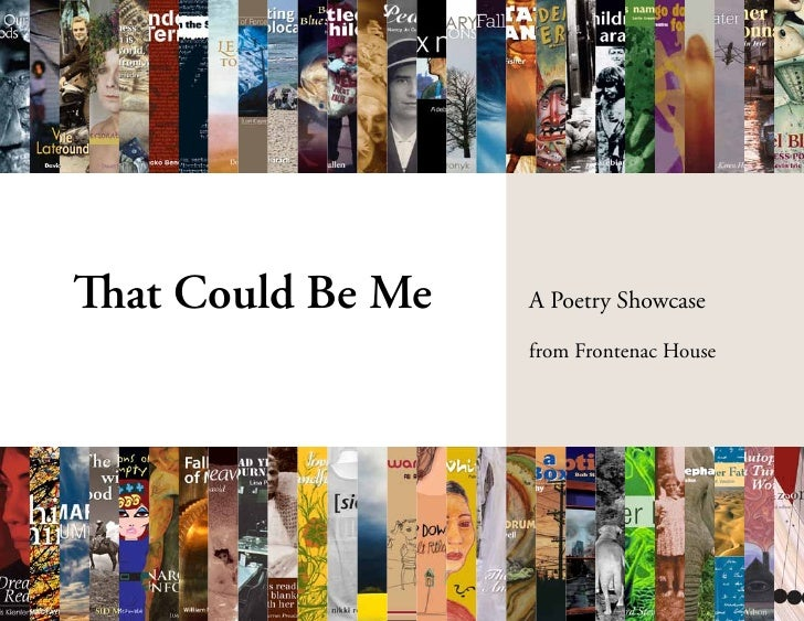 That Could Be Me   A Poetry Showcase                   from Frontenac House
