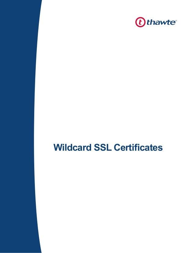 Explore Thawte Wildcard Ssl Security Rapidsslonline
