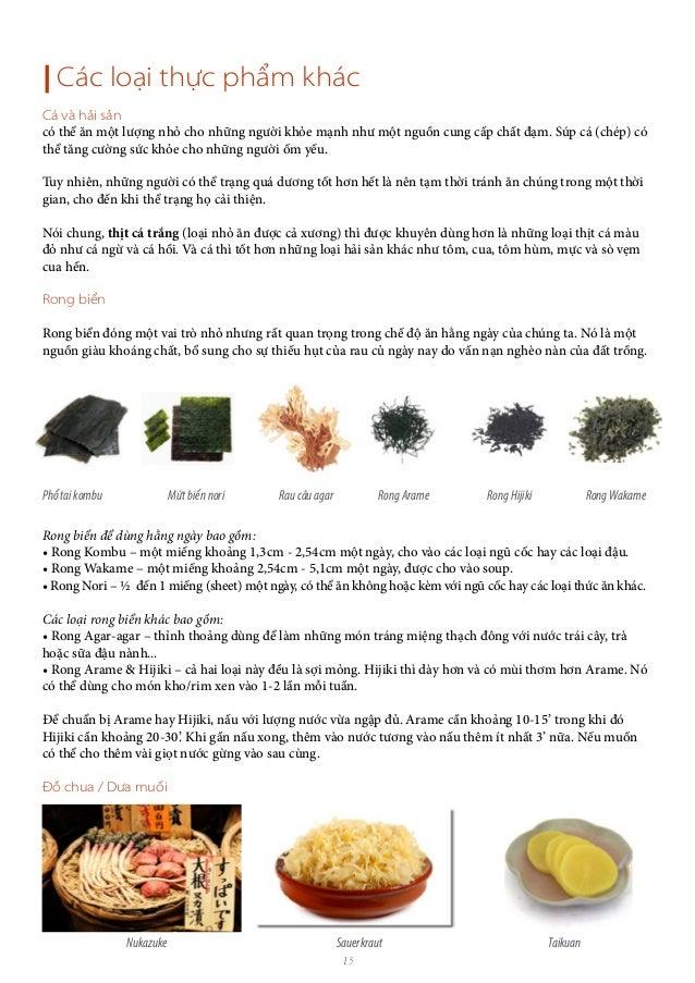 15   Các loại thực phẩm khác Cá và hải sản có thể ăn một lượng nhỏ cho những người khỏe mạnh như một nguồn cung cấp chất đ...