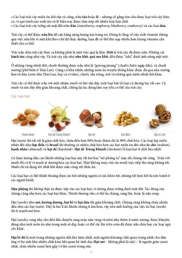 17 • Các loại trái cây miền ôn đới rắn và cứng, như táo hoặc lê – nhưng cố gắng tìm cho được loại trái cây hữu cơ, vì qui ...
