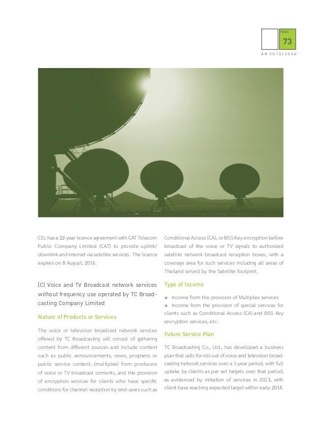 Thaicom Public Company Limited | Annual Report 2013
