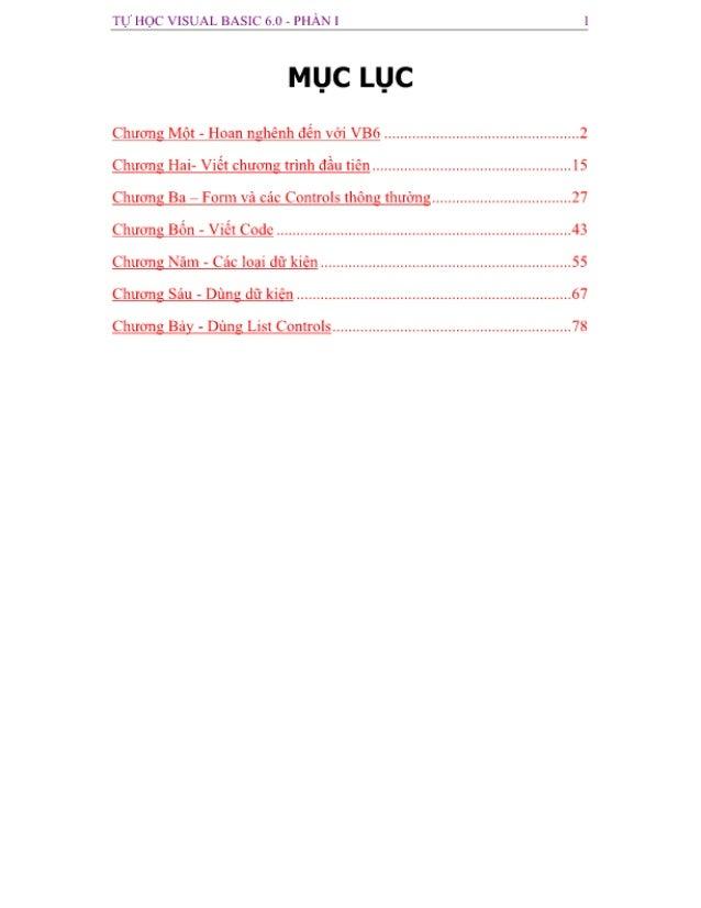 Tự học visual basic 6.0