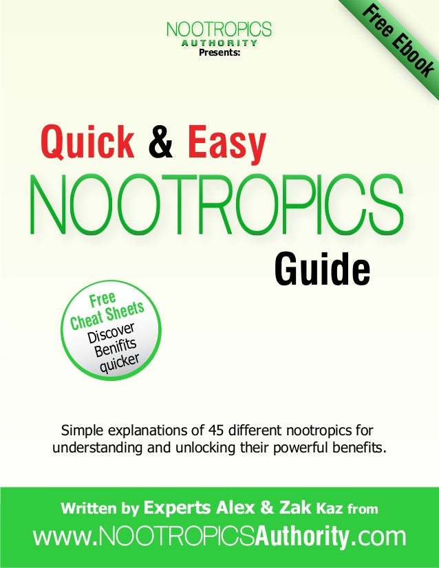 The quick and easy nootropics guide