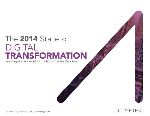 EXECUTIVE SUMMARY Digital transformation isn't a trend owned by a particular role, nor a discipline that belongs to one de...