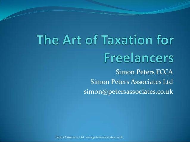 Simon Peters FCCASimon Peters Associates Ltdsimon@petersassociates.co.ukPeters Associates Ltd www.petersassociates.co.uk
