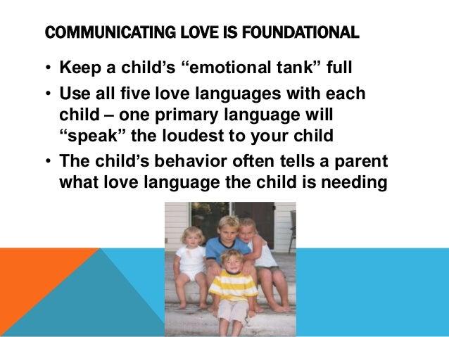 Love Language The Child Is Needing 2