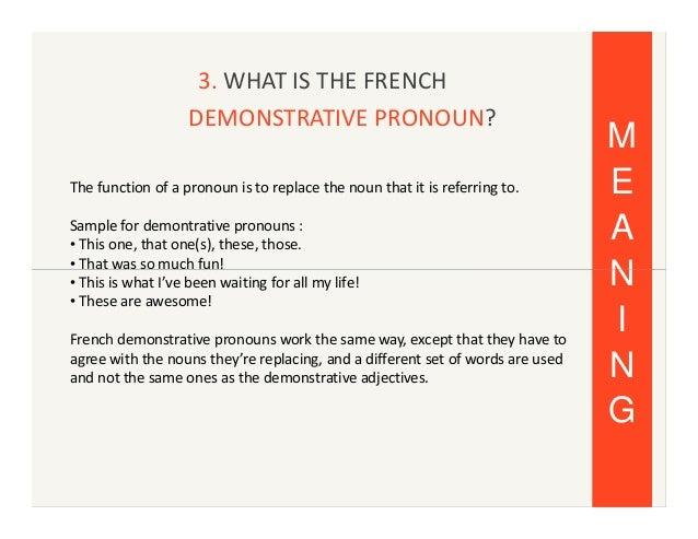Iqopzioni Demonstrative Pronouns French Mendajamge S Diary