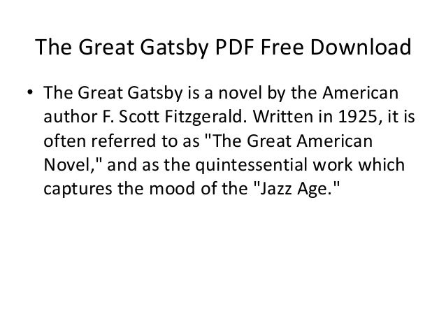 The Great Gatsby Free Download Ebook