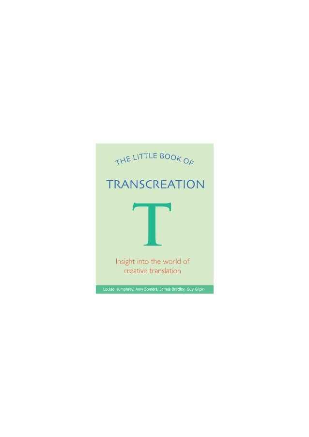 The little book of transcreation