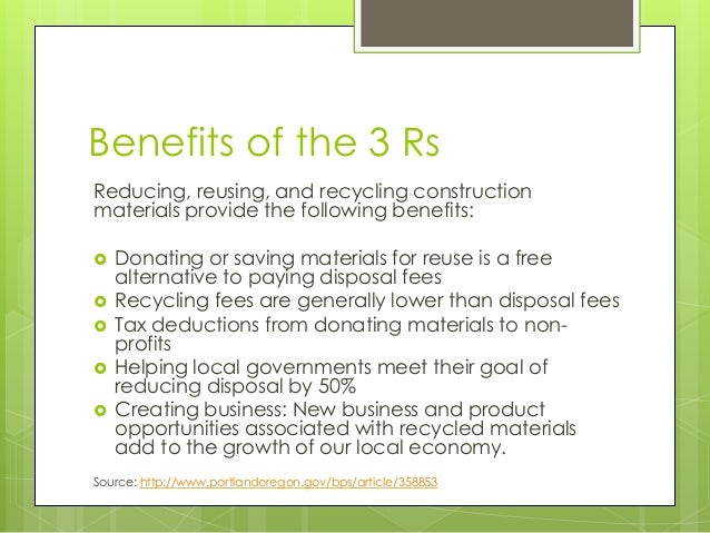 recycling reusing and reducing essay How does recycling reduce pollution a:  recycling also reducing the production of virgin resources which process contributes to pollution continue reading.