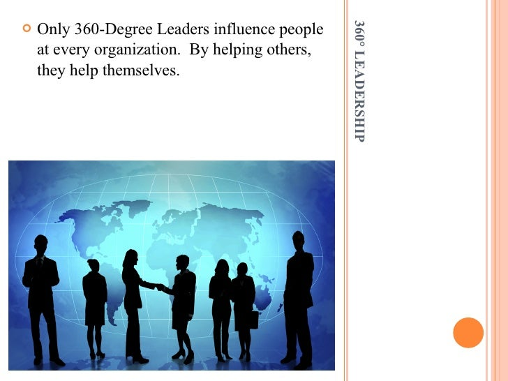 360° LEADERSHIP <ul><li>Only 360-Degree Leaders influence people at every organization.  By helping others, they help them...